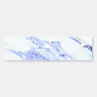 Blue and white marble bumper sticker