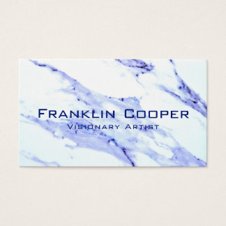 Blue and White Marble Business Card