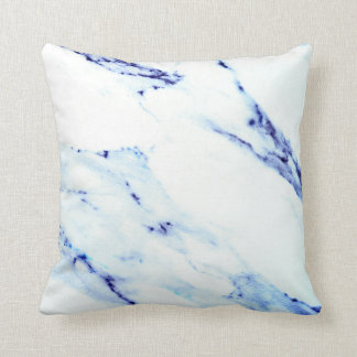 Blue and White Marble Cushion