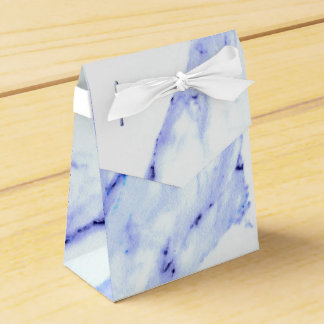 Blue and White Marble Favour Box