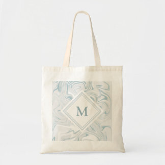 Blue and White Marble look with Diamond Monogram Tote Bag