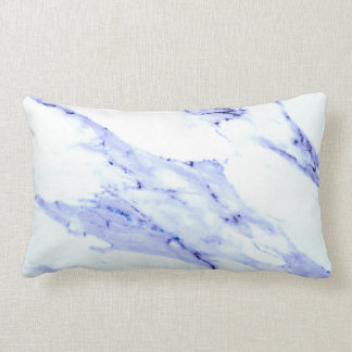 Blue and White Marble Lumbar Cushion