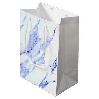 Blue and White Marble Medium Gift Bag
