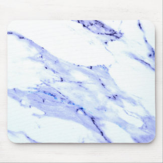 Blue and white marble mouse pad