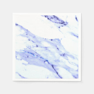 Blue and White Marble Paper Napkins