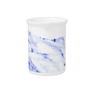 Blue and white marble pitcher