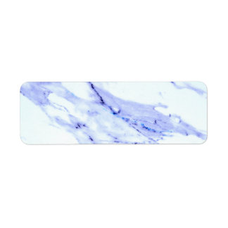 Blue and White Marble Return Address Label