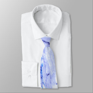 Blue and white Marble Tie