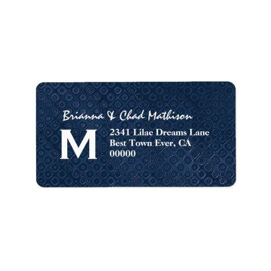 Blue and White Monogram Label V324