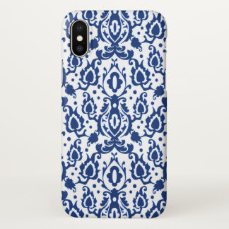 Blue and White Moroccan Casbah Damask iPhone X Case