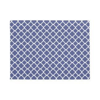 Blue and white Moroccan pattern Doormat