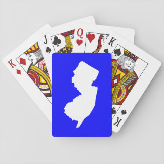Blue and White New Jersey Playing Cards