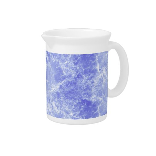 Blue and White Ocean Clouds Pitcher