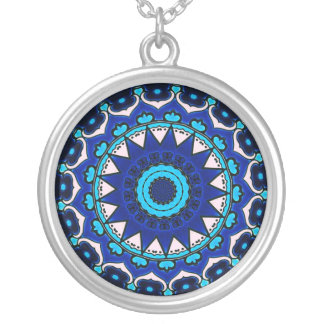 BLUE AND WHITE Ottoman TILE DESIGN STAR Necklaces