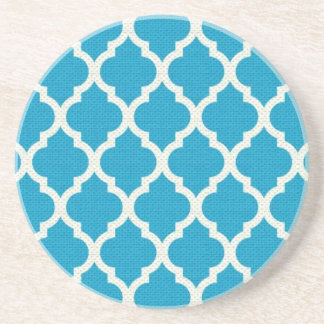 Blue and white pattern coaster