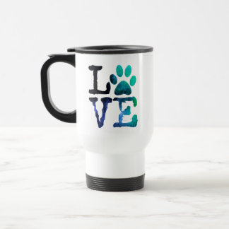 Blue and White Paw Print Coffee Mug