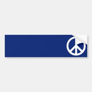 Blue and White Peace Symbol Bumper Sticker