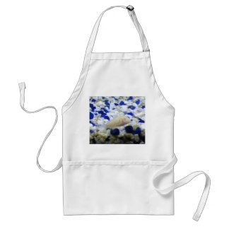 Blue and white pebbles and Albino cat fish Standard Apron