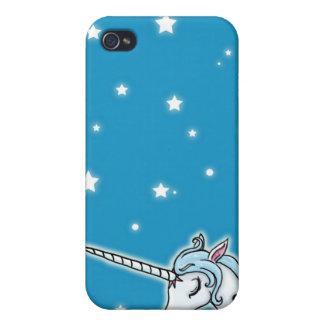 Blue and white Pegasus Unicorn iPhone 4 Cases