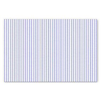 Blue and White Pinstripe Tissue Paper