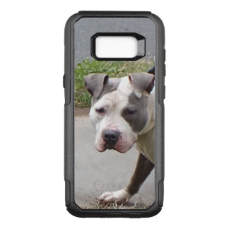 Blue and White Pit Bull Dog OtterBox Commuter Samsung Galaxy S8+ Case