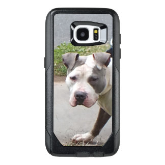 Blue and White Pit Bull Dog OtterBox Samsung Galaxy S7 Edge Case