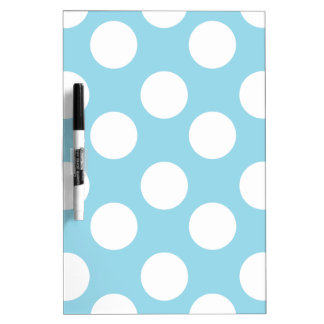Blue and White Polka Dot Dry Erase Board