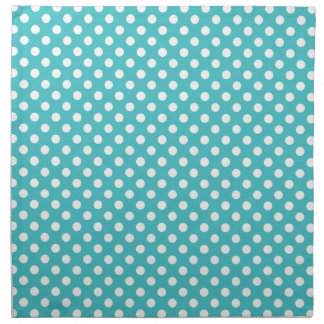 Blue And White Polka Dot Napkins