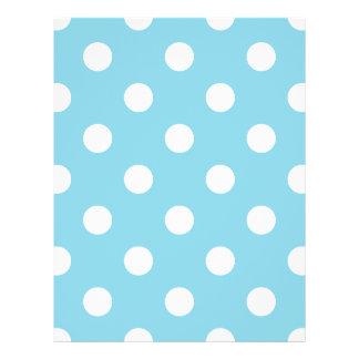Blue and White Polka Dot Pattern 21.5 Cm X 28 Cm Flyer