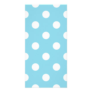 Blue and White Polka Dot Pattern Card