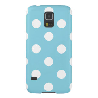 Blue and White Polka Dot Pattern Case For Galaxy S5