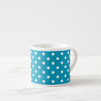 Blue And White Polka Dot Pattern Espresso Cup