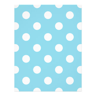 Blue and White Polka Dot Pattern Flyer
