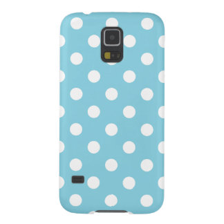 Blue and White Polka Dot Pattern Galaxy S5 Covers