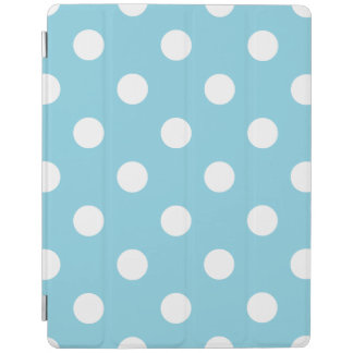 Blue and White Polka Dot Pattern iPad Cover