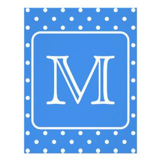 Blue and White Polka Dot Pattern Monogram. Custom. 21.5 Cm X 28 Cm Flyer