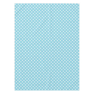 Blue and White Polka Dot Pattern Tablecloth