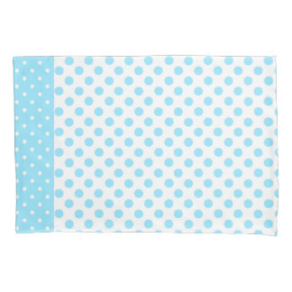Blue and White Polka Dot Pillow Case