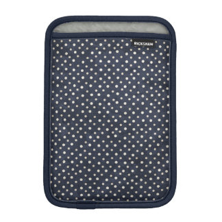 Blue and white polka dots iPad Mini Sleeve