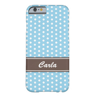 Blue and white polka dots iPhone 6 case Barely There iPhone 6 Case