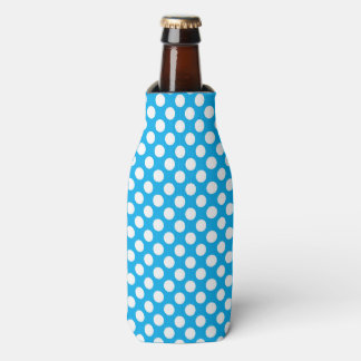 Blue and white polka dots pattern bottle cooler