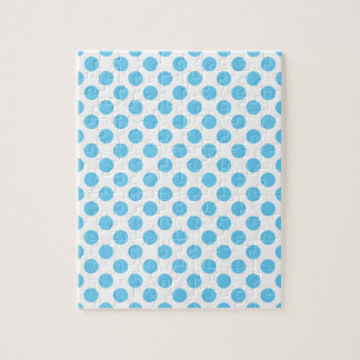 Blue and white polka dots pattern puzzle