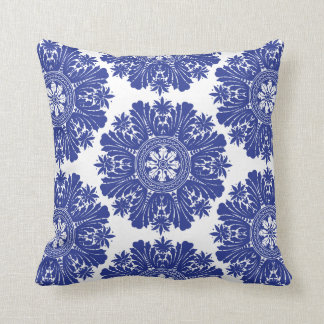 Blue and White Porcelain Baroque Cushion