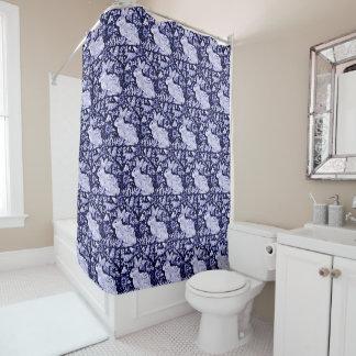 Blue and White Rabbit Bird Shower Curtain Dedham