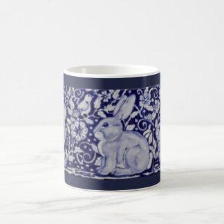 Blue and White Rabbit China Cobalt Dedham Mug