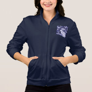 Blue and White Rabbit Navy Women's Shirt