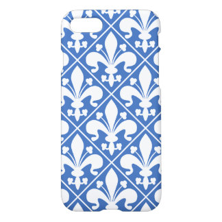 Blue and White Renaissance Fleur de Lys iPhone 7 Case