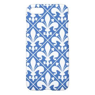 Blue and White Renaissance Fleur de Lys iPhone 8/7 Case