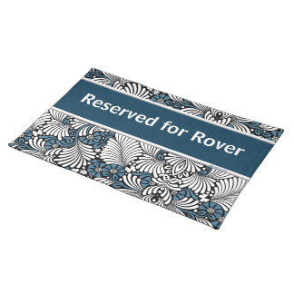Blue and White Retro Reserved for Placemat