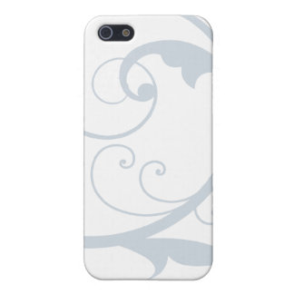 Blue and White Scrolling Flourish Speck iphone Cas Cover For iPhone 5